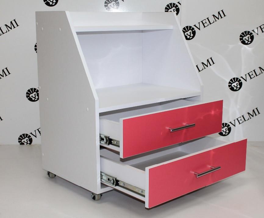 Візок косметологічний пересувний з 2 шухлядками тумба для косметологічних апаратів VM 910