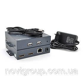 Одноканальний активний подовжувач HDMI сигналу по UTP кабелю. Дальність передачі: до 200 метрів, cat5e / cat6e