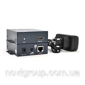 Одноканальний активний подовжувач HDMI сигналу по UTP кабелю. Дальність передачі: до 100метрів, cat5e / cat6e