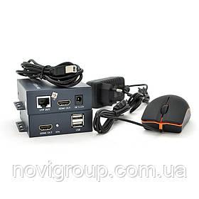 Одноканальний активний подовжувач HDMI сигналу по UTP кабелю. Дальність передачі: до 100 метрів, cat5e / cat6e