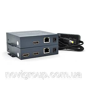 Одноканальний активний подовжувач HDMI сигналу по UTP кабелю. Дальність передачі: до 200метров, cat5e / cat6e