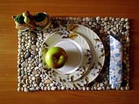 Kreativkovrik, термосалфетка, коврик под тарелку для кухни из натуральной морской гальки
