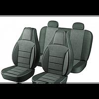 Чехлы Pilot на автомобильные сидения, 2101 полный комплект (2+2) из автоткани темно-серые (9024)