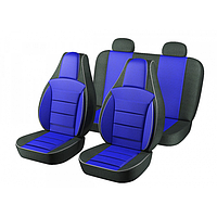 Чехлы Pilot на автомобильные сидения, 2108 полный комплект (2+2) из автоткани синие (9041)