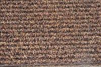 Ворсовый коврик «Поляна» с кантом коричневый