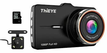 Автомобильный видеорегистратор ThiEYE Carbox 5R 1080p Full HD с камерой заднего вида и картой памяти на 32 GB