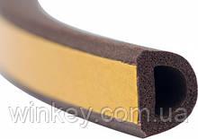Уплотнитель самоклеющийся Stomil Sanok SD 54 10х12 коричневый 50м