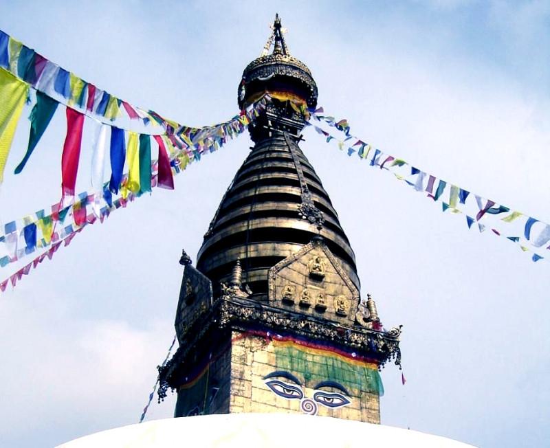 9040368 Тибетские флажки ЛУНГ-ТА L = 110см. 10 флажков