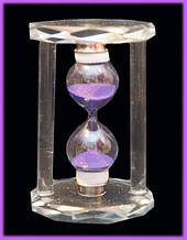 9290103 Песочные часы в стеклянном корпусе Фиолетовый песок