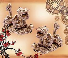 9260020 Пара драконов с жемчужинами под бронзу