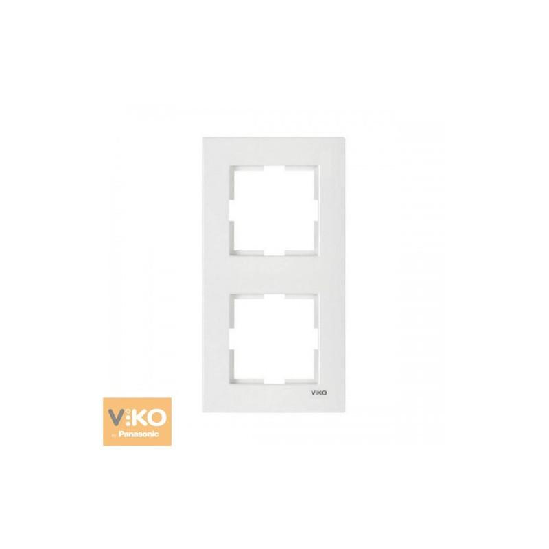 Вертикальна Рамка подвійна VIKO Karre - Білий