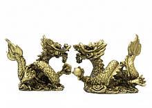 9260228 Пара Драконов с жемчужинами под бронзу