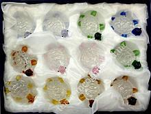 9190104 Набор из двенадцати черепашек цветное стекло