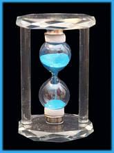 9290103 Песочные часы в стеклянном корпусе Синий песок