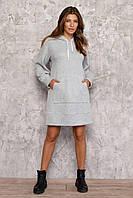 Платье худи женское серое Nenka 3034-с01, фото 1