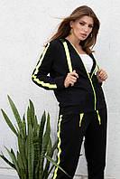 Кофта спортивна жіноча чорна Nenka 975-c02