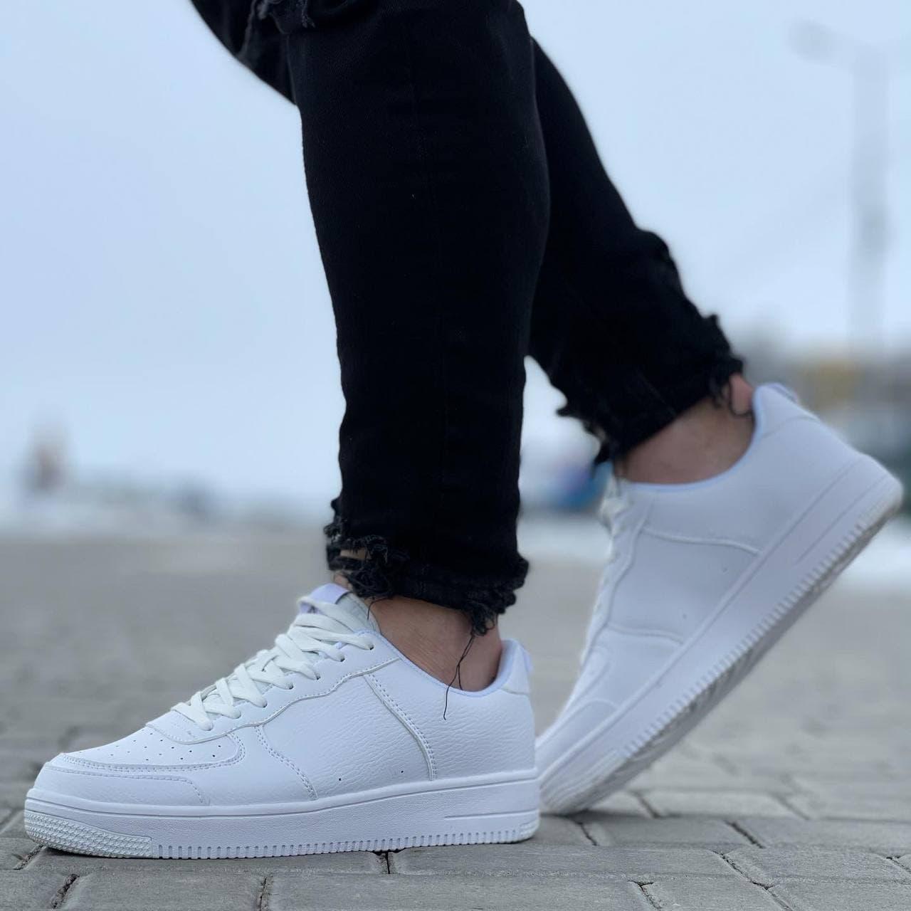 Мужские кроссовки  41-45 белые осень | весна 075