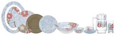 Сервиз столовый Luminarc Peony Floral Blue 46 предметов на 6 персон N6255