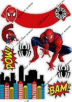 """Съедобная картинка """"Человек паук"""" сахарная и вафельная картинка а4"""