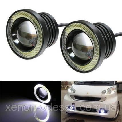 Мощные противотуманные фонари LED линзы 65 мм с Ангельскими Глазками, фото 2