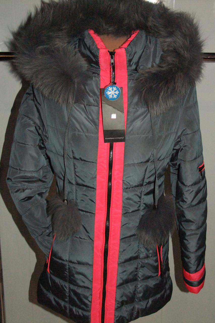 Куртка зимняя женская 42,52 р серая  арт 61 . 52