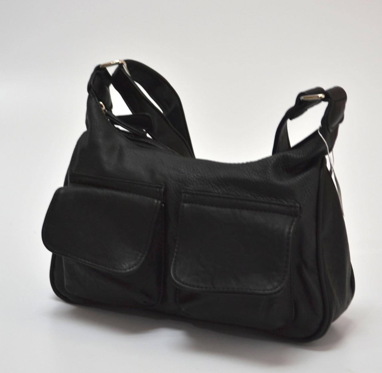 7ad758aa9e31 Небольшая женская сумка, черная, с кармашками спереди.: продажа ...