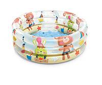 Детский надувной бассейн с надувным дном Intex 57106NP