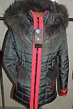 Куртка зимняя женская 42,52 р серая  арт 61 ., фото 3