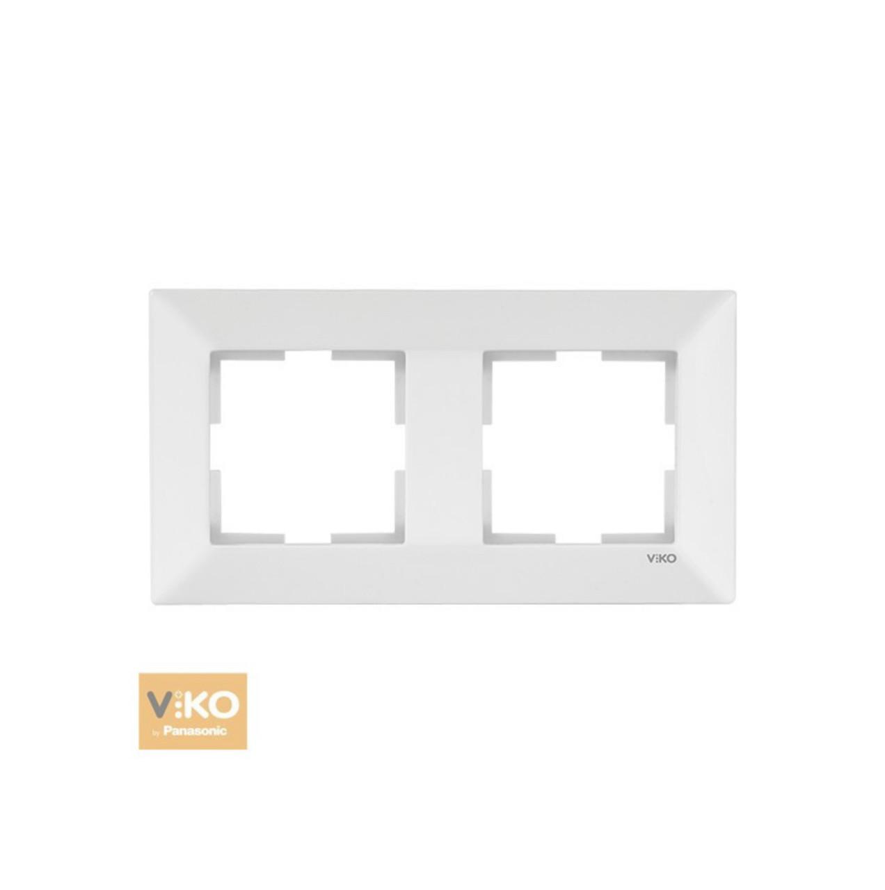 Рамка двойная горизонтальная VIKO Meridian - Белый