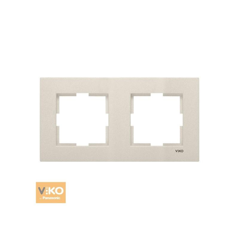 Рамка двойная горизонтальная VIKO Novella - Бронза