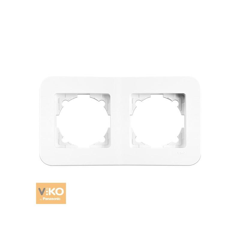 Рамка подвійна горизонтальна VIKO Rollina - Білий