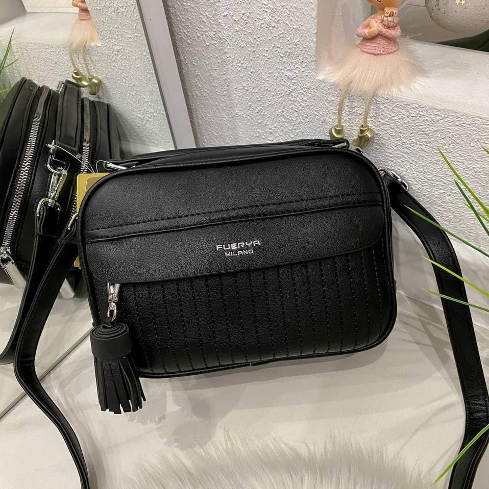 Женская сумка на 2 отделения Fuerya Мила черная СМ323