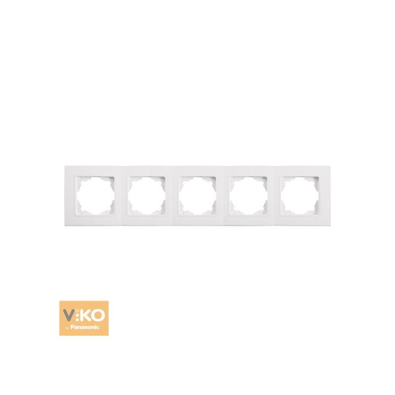 Рамка пятерная горизонтальна VIKO Linnera - Білий