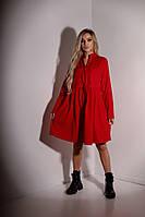 "Платье -рубашка Норма+Батал ""Вельвет""  Dress Code, фото 1"