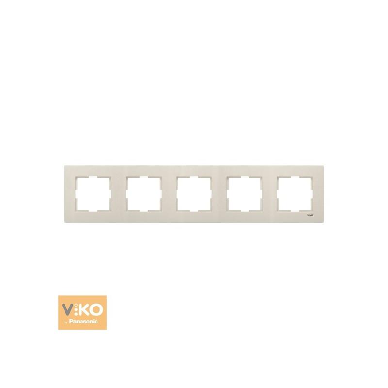 Рамка пятерная горизонтальная VIKO Novella - Бронза