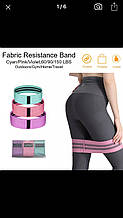 Тканева фітнес -гумка/resistance band/стрічка опору