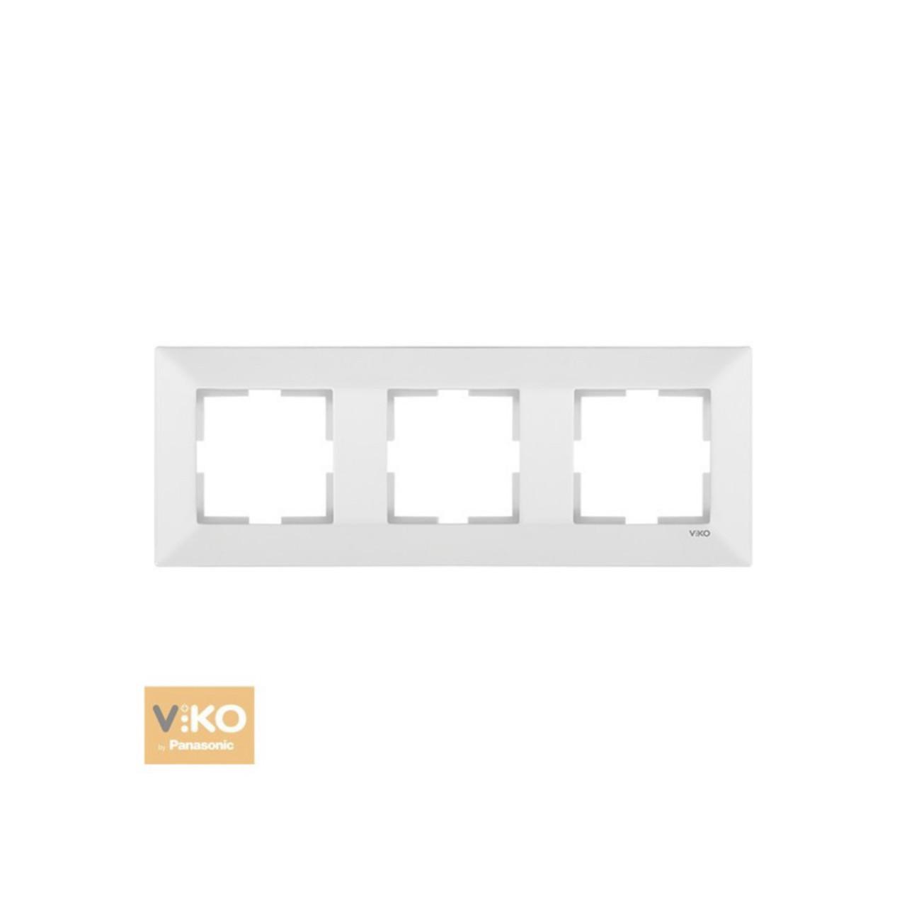 Рамка потрійна горизонтальна VIKO Meridian - Білий