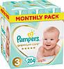 Подгузники детские Pampers Premium Care Dry Max Midi 3 (6-10 кг) Mega Pack 204 шт