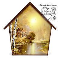 Ключниця будиночок Природа Осінь середня 18 * 23 см, ручна робота, подарунок в сім'ю