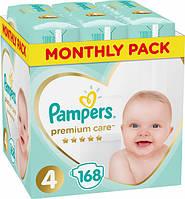 Підгузники дитячі Pampers Premium Care Dry Max Maxi 4 (9-14 кг) Mega Pack 168 шт