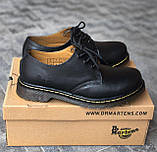 🔥 Туфли женские Dr.Martens 1461 мартинсы черные повседневные кожаные дерби, фото 7