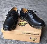 🔥 Туфли женские Dr.Martens 1461 мартинсы черные повседневные кожаные дерби, фото 6