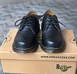 🔥 Туфли женские Dr.Martens 1461 мартинсы черные повседневные кожаные дерби, фото 2