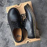 🔥 Туфли женские Dr.Martens 1461 мартинсы черные повседневные кожаные дерби, фото 3
