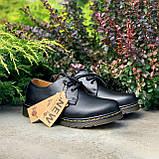 🔥 Туфли женские Dr.Martens 1461 мартинсы черные повседневные кожаные дерби, фото 4