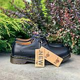 🔥 Туфли женские Dr.Martens 1461 мартинсы черные повседневные кожаные дерби, фото 9