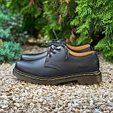 🔥 Туфли женские Dr.Martens 1461 мартинсы черные повседневные кожаные дерби, фото 10