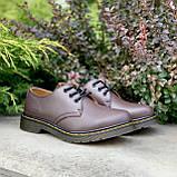 🔥 Туфли женские Dr.Martens 1461 мартинсы коричневые повседневные кожаные дерби, фото 5
