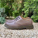 🔥 Туфли женские Dr.Martens 1461 мартинсы коричневые повседневные кожаные дерби, фото 3