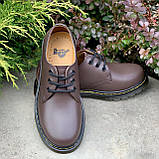 🔥 Туфли женские Dr.Martens 1461 мартинсы коричневые повседневные кожаные дерби, фото 4